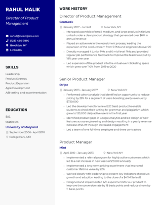 Management resume template 5