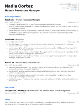 Mid-career resume template 6