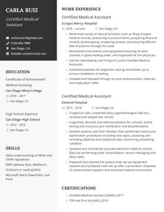 Mid-career resume template 1