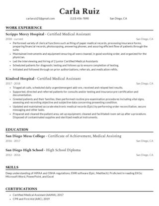 Mid-career resume template 2