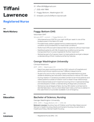 New grad resume template 1