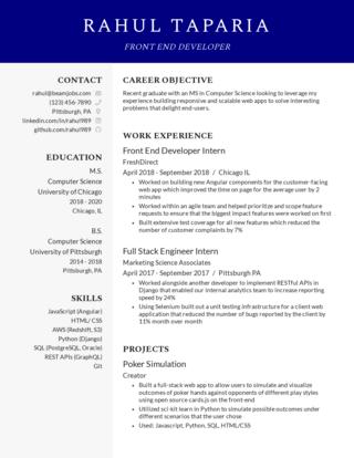 New grad resume template 3