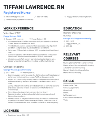 New grad resume template 2