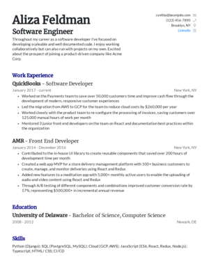 Default custom resume template 8