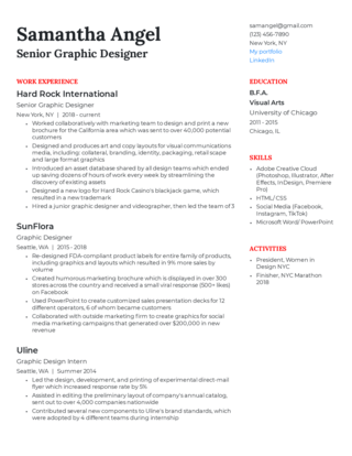 Senior-level resume template 4