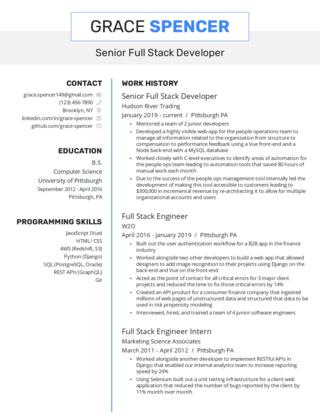 Senior-level resume template 6