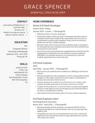 Senior-level resume template 5