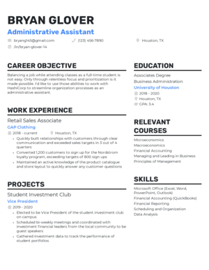 Standout resume template